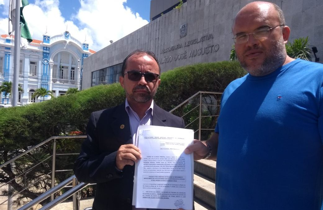 Pedido de impeachment do governador Robinson Faria foi protocolado na Assembleia Legislativa nesta sexta, 12